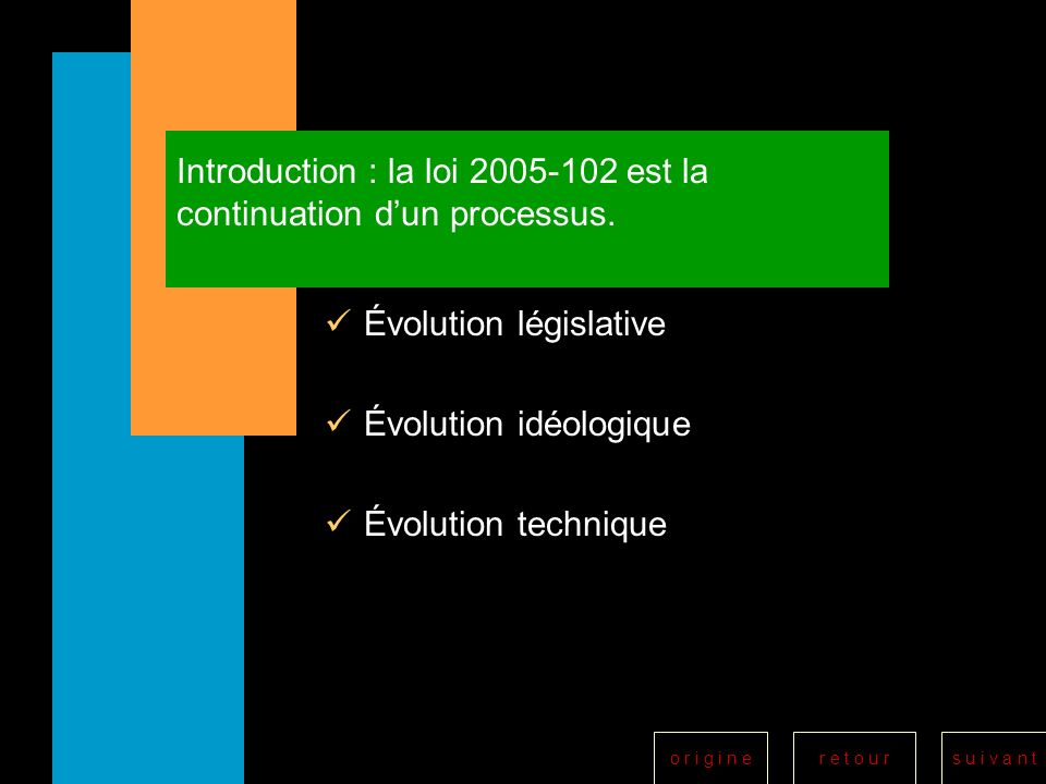 Introduction : la loi 2005-102 est la continuation d'un processus.
