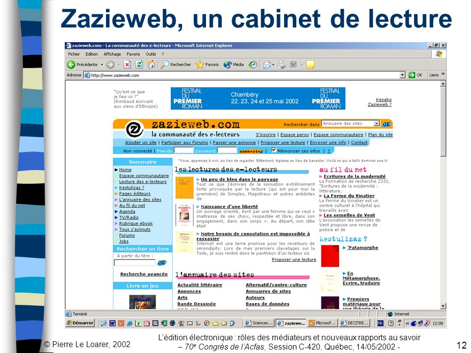 Zazieweb, un cabinet de lecture