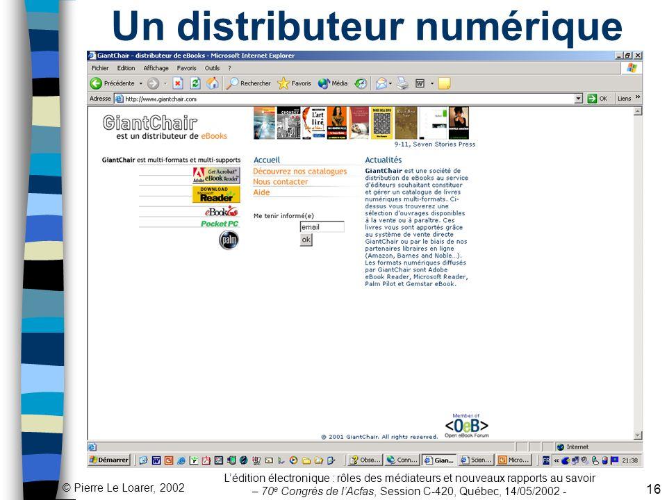 Un distributeur numérique