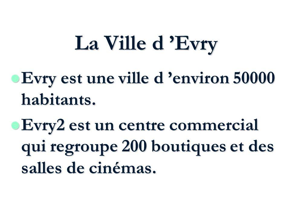 La Ville d 'Evry Evry est une ville d 'environ 50000 habitants.