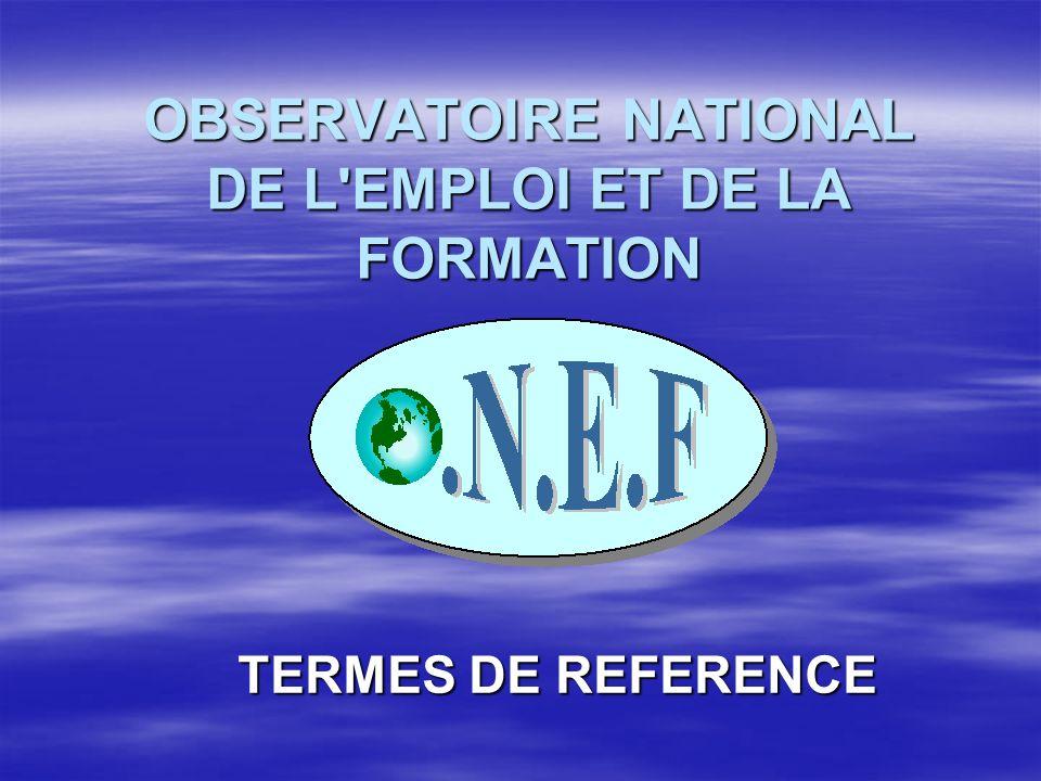 OBSERVATOIRE NATIONAL DE L EMPLOI ET DE LA FORMATION