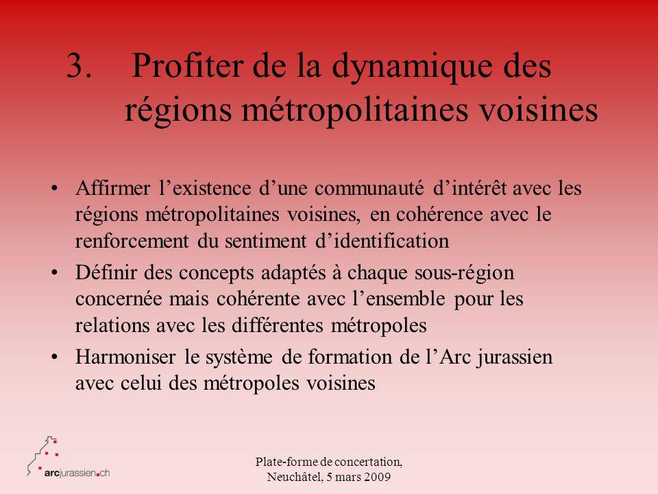 3. Profiter de la dynamique des régions métropolitaines voisines