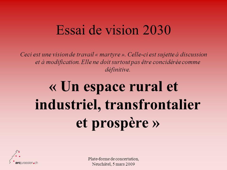 « Un espace rural et industriel, transfrontalier et prospère »