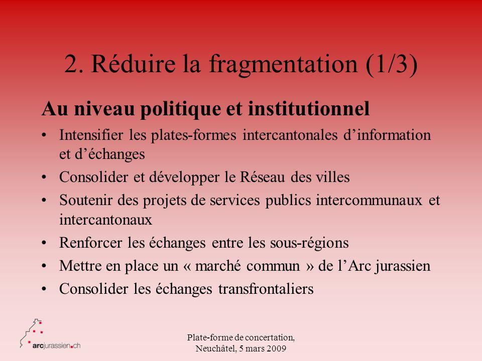 2. Réduire la fragmentation (1/3)