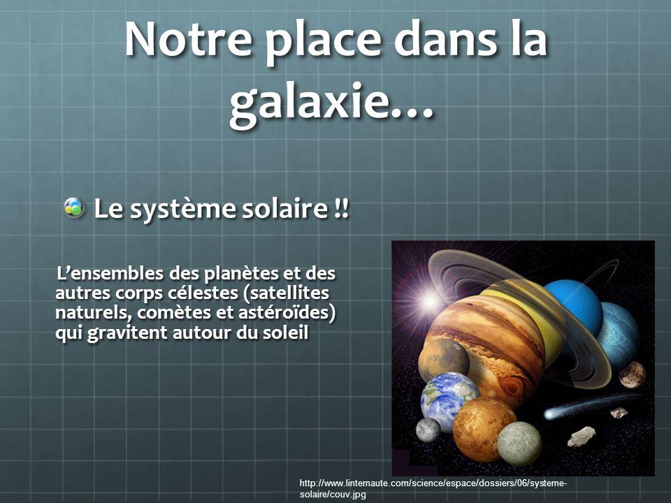 Notre place dans la galaxie…