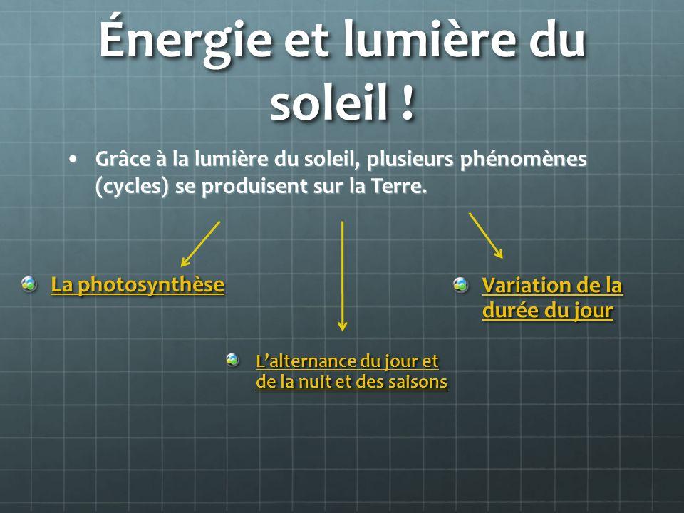 Énergie et lumière du soleil !
