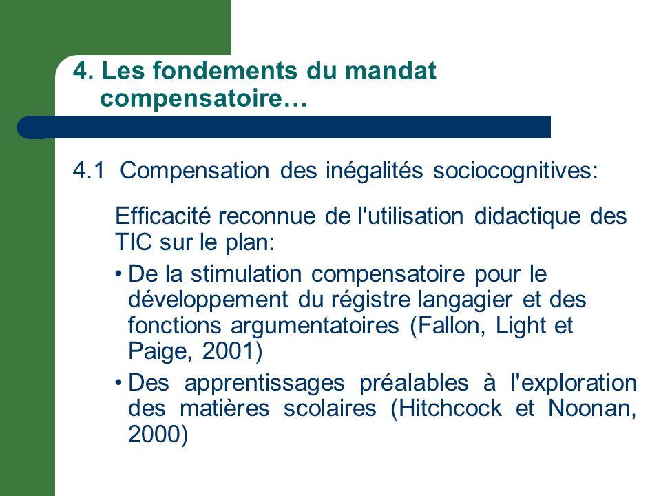 4. Les fondements du mandat compensatoire…