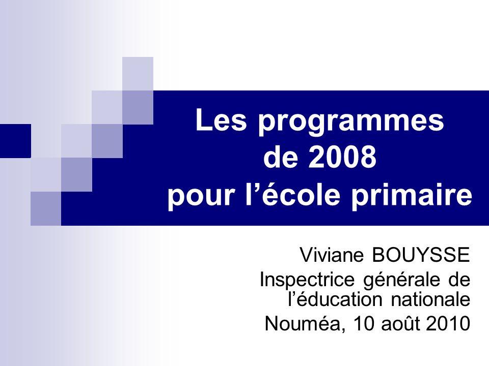 Les programmes de 2008 pour l'école primaire