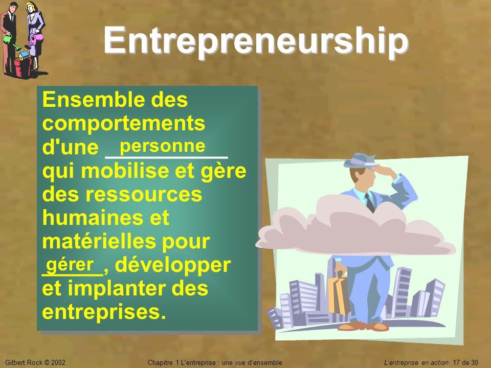 Chapitre 1 L entreprise : une vue d ensemble