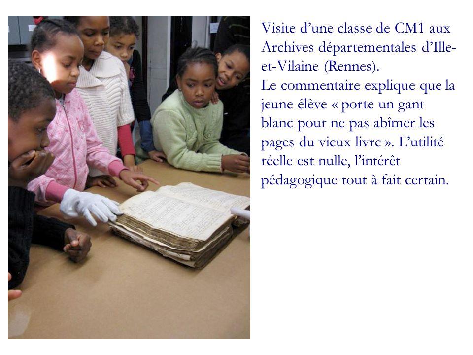 Visite d'une classe de CM1 aux Archives départementales d'Ille-et-Vilaine (Rennes).