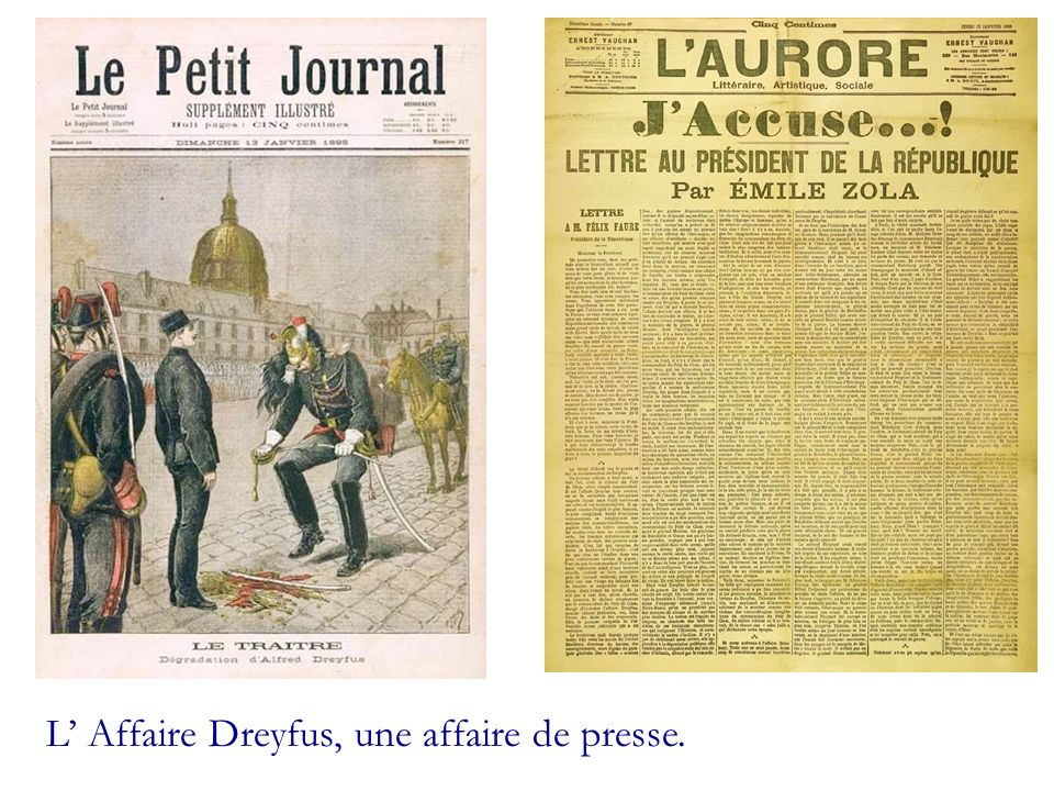 L' Affaire Dreyfus, une affaire de presse.