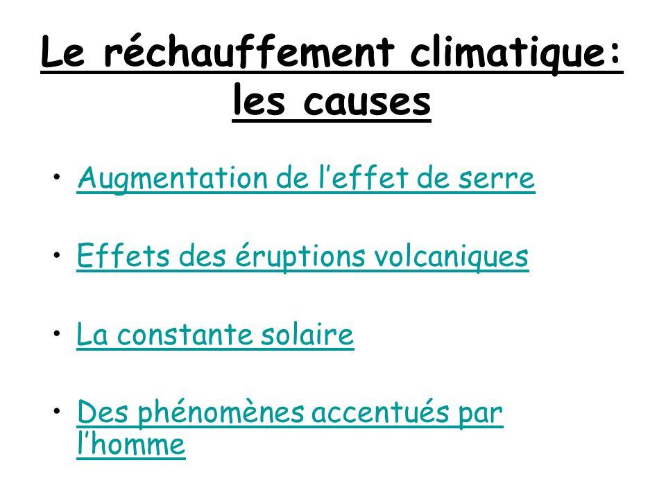 Le réchauffement climatique: les causes