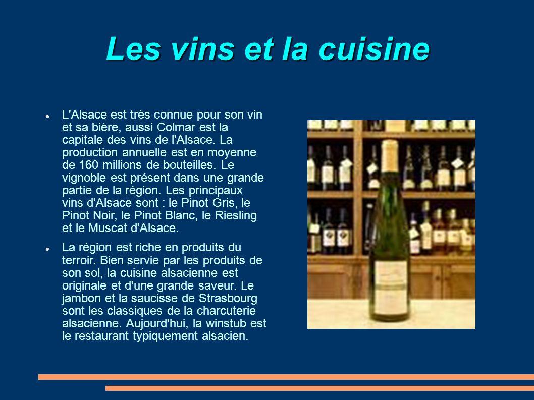 Les vins et la cuisine