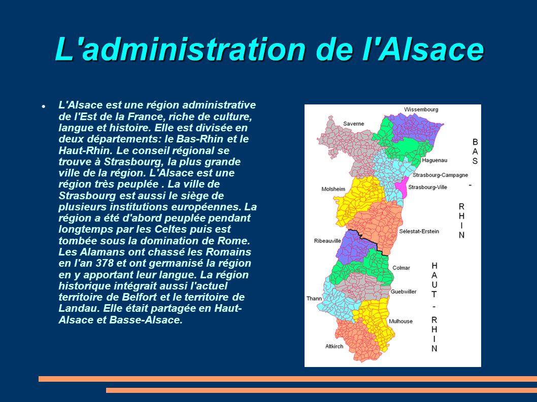 L administration de l Alsace