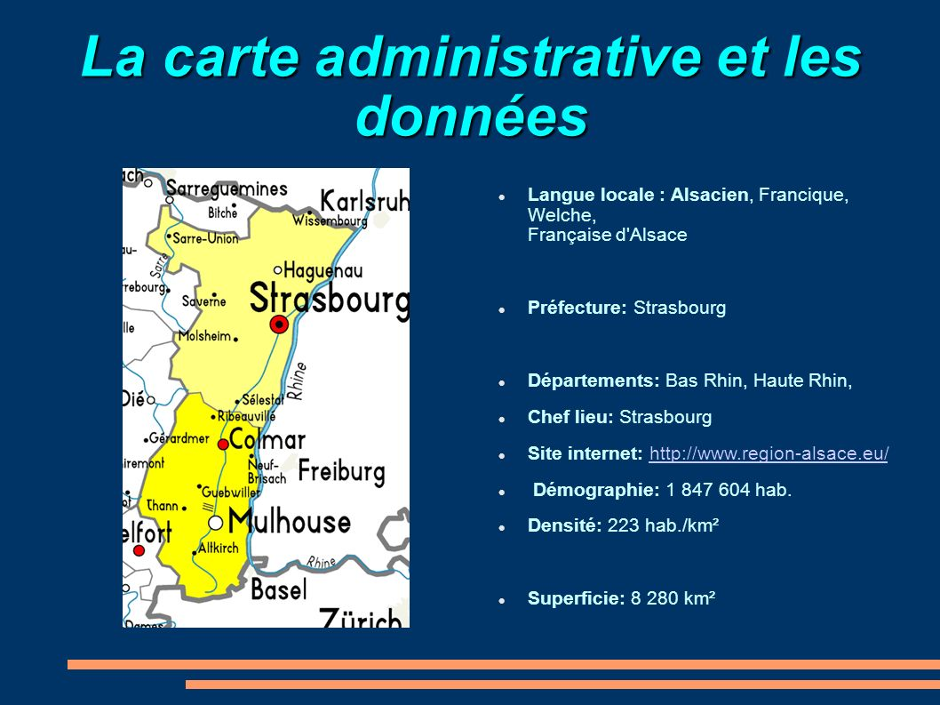 La carte administrative et les données