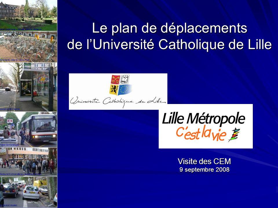 Le plan de déplacements de l'Université Catholique de Lille