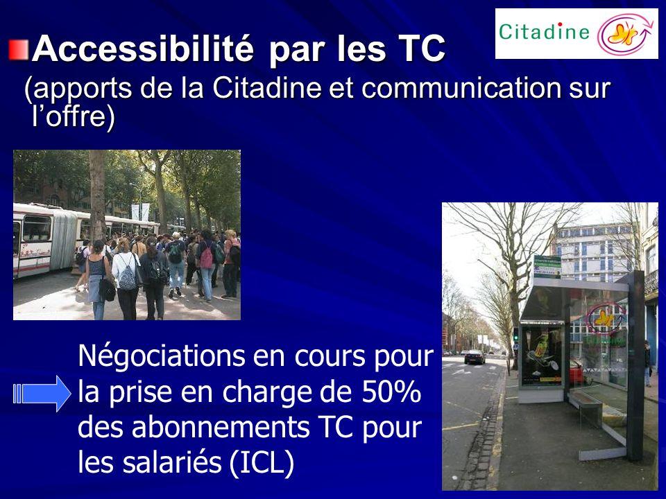 Accessibilité par les TC