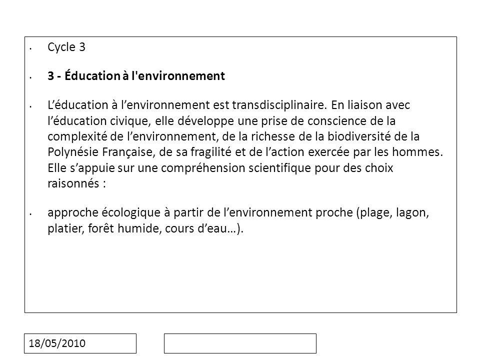 3 - Éducation à l environnement