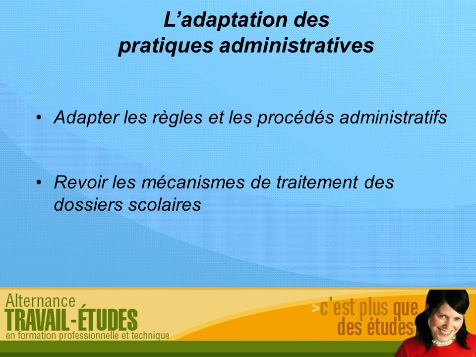 pratiques administratives