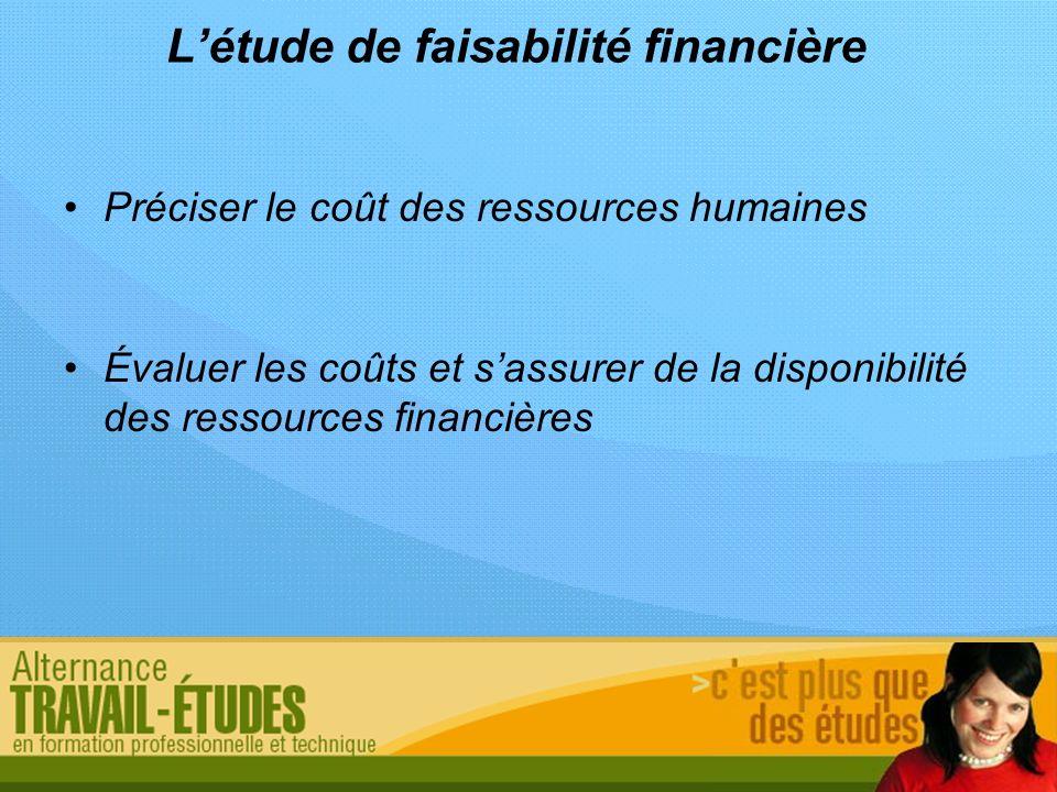 L'étude de faisabilité financière