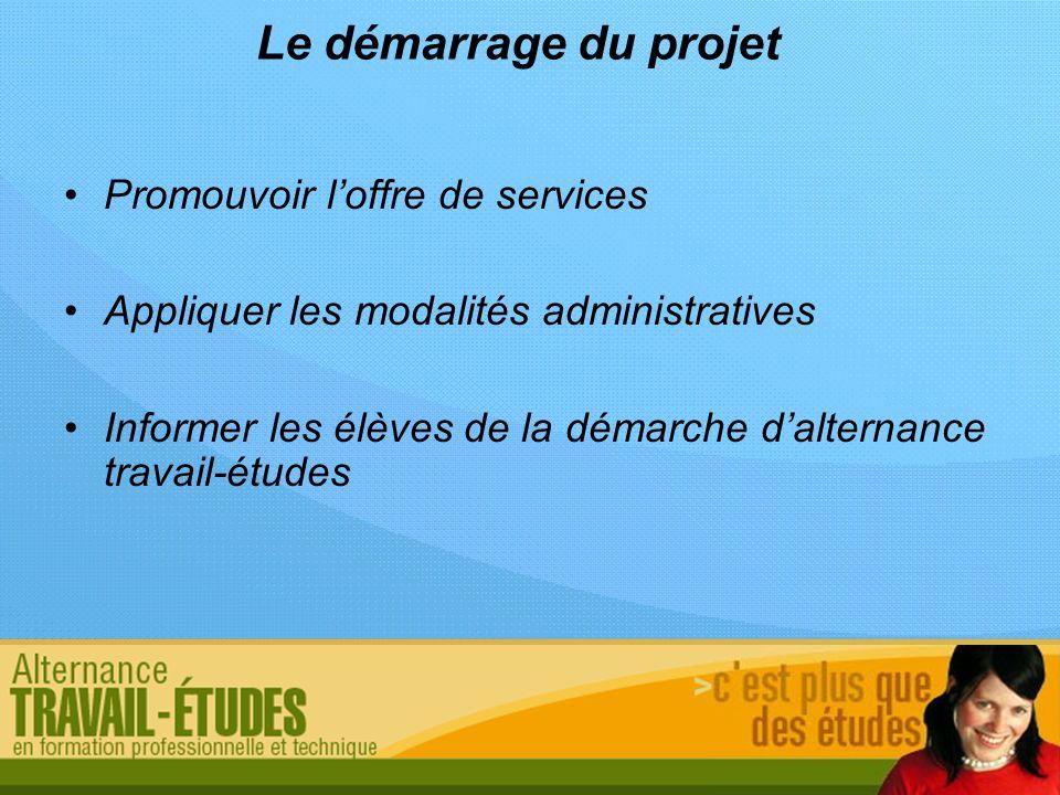 Le démarrage du projet Promouvoir l'offre de services