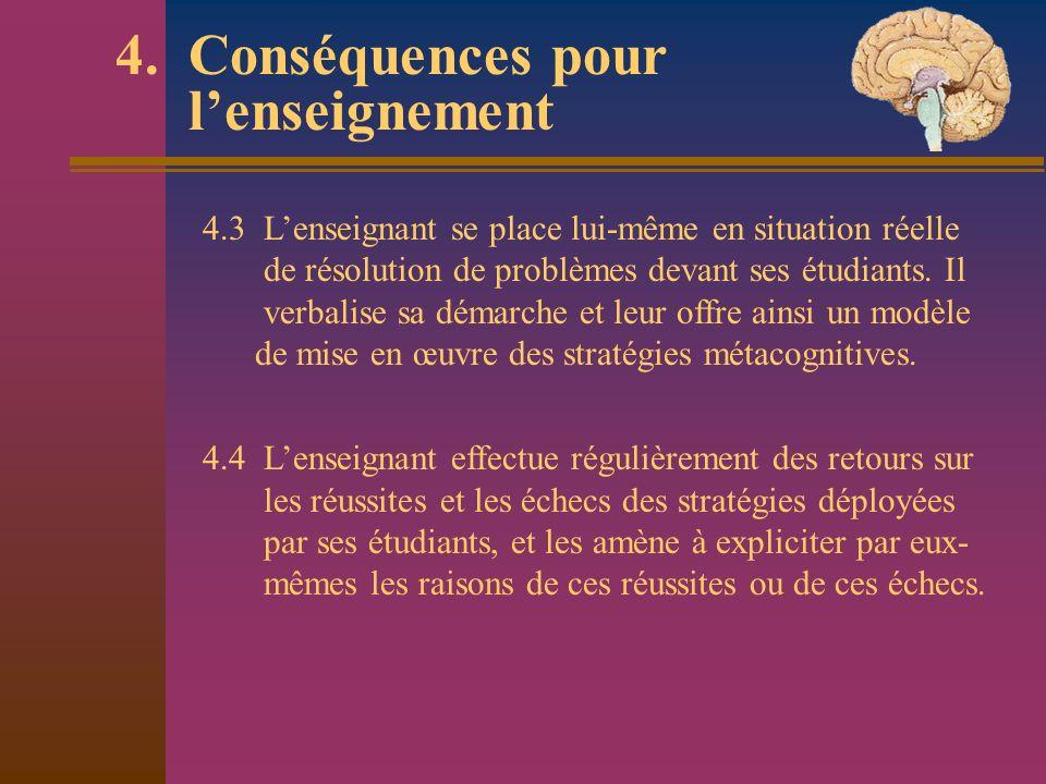4. Conséquences pour l'enseignement