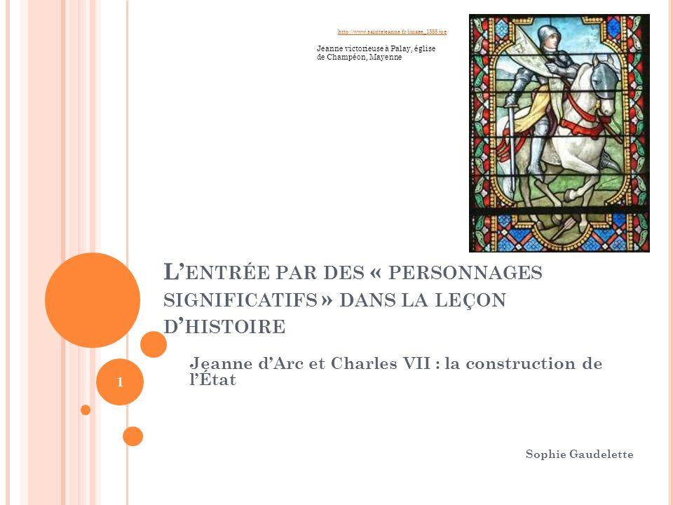 http://www.saintejeanne.fr/image_1385.jpg Jeanne victorieuse à Palay, église de Champéon, Mayenne.