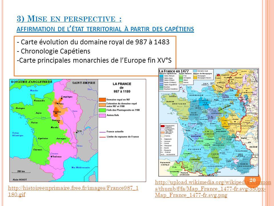 3) Mise en perspective : affirmation de l'état territorial à partir des capétiens