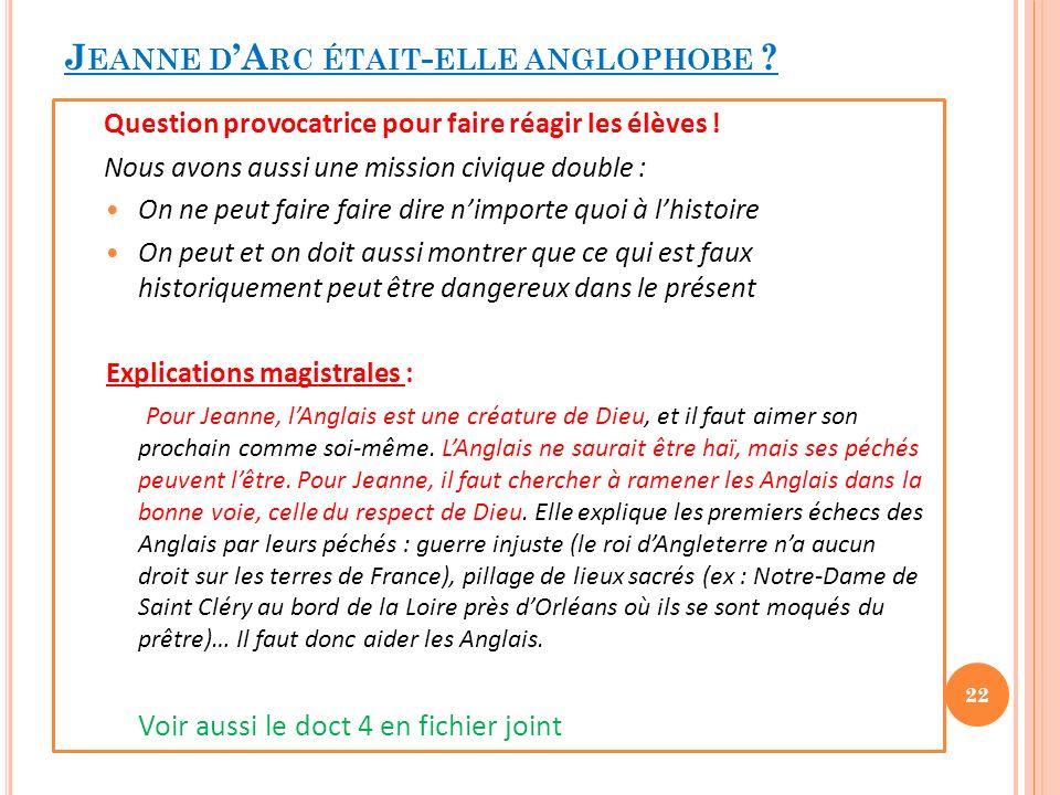 Jeanne d'Arc était-elle anglophobe