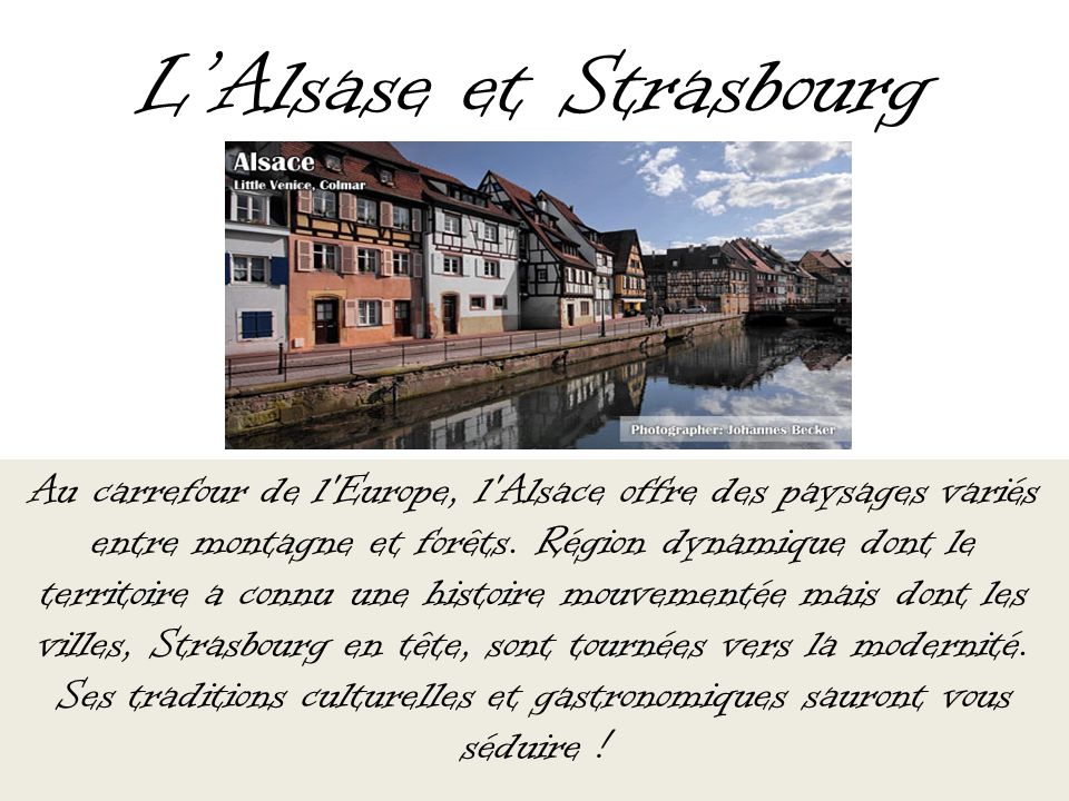 L'Alsase et Strasbourg