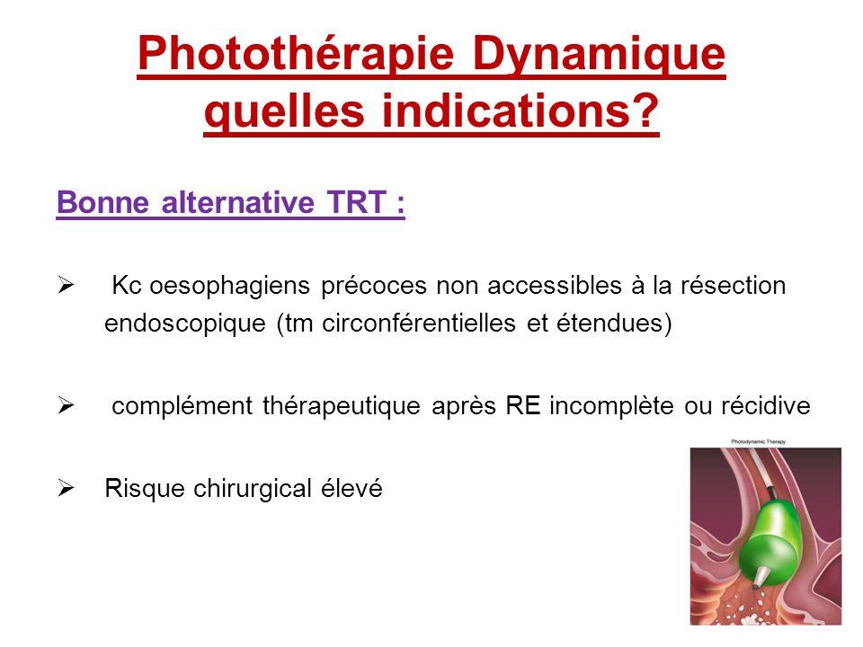 Photothérapie Dynamique quelles indications