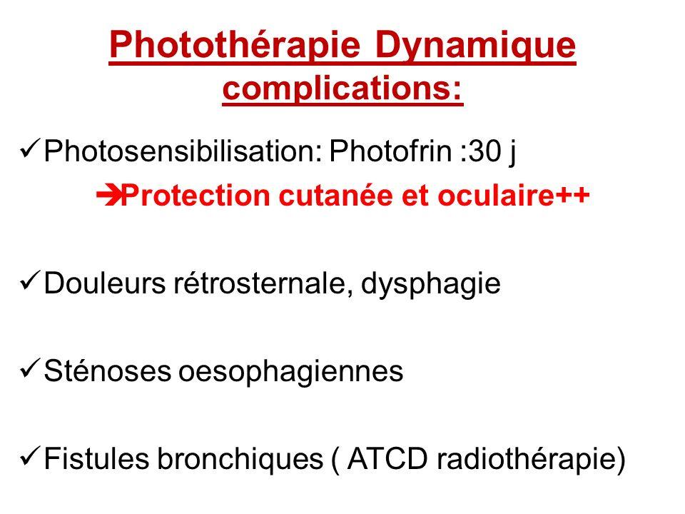 Photothérapie Dynamique complications: