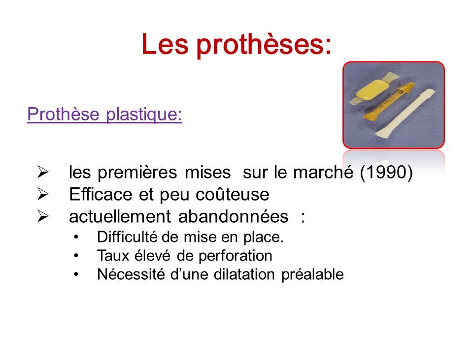 Les prothèses: Prothèse plastique: