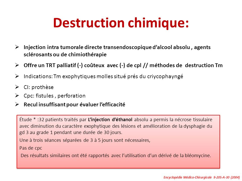Destruction chimique: