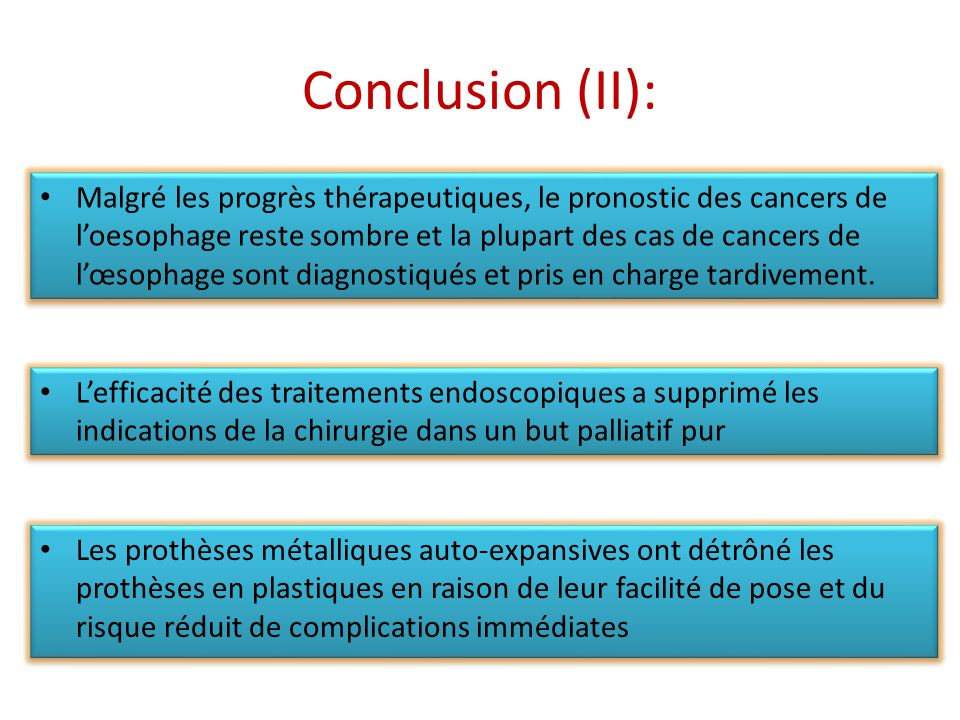 Conclusion (II):