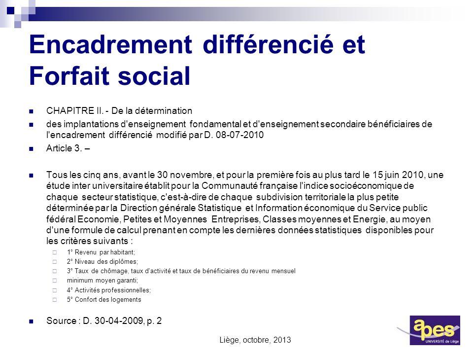 Encadrement différencié et Forfait social