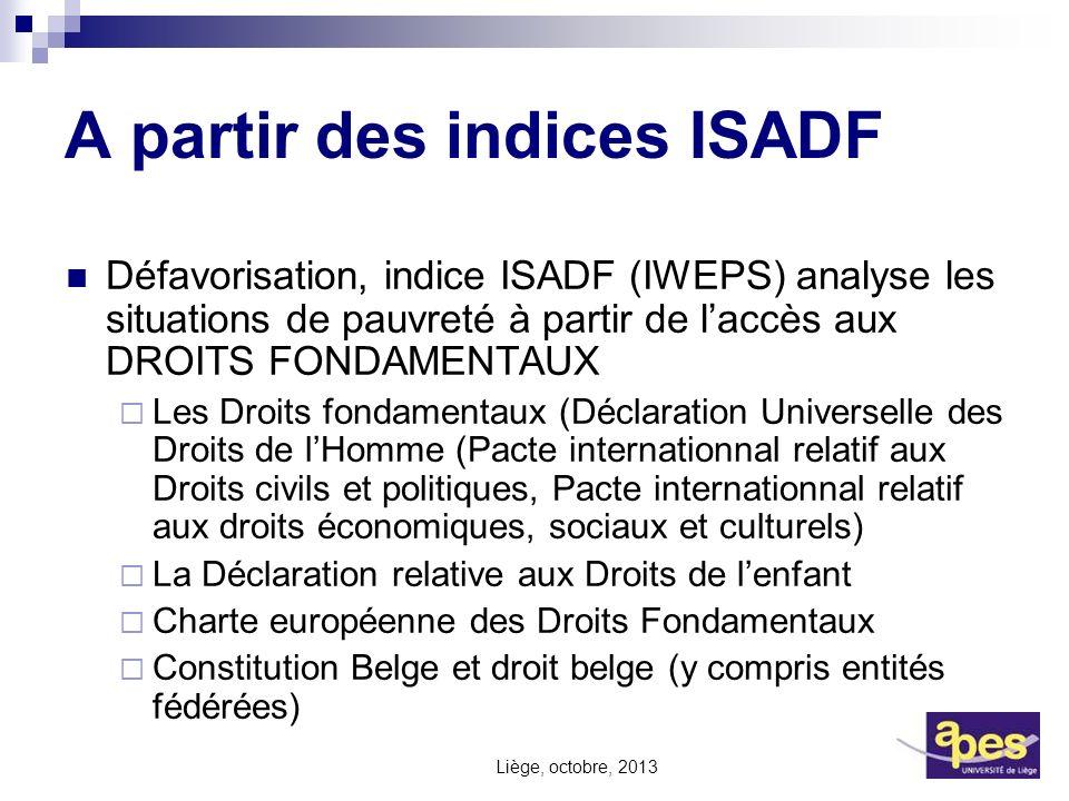 A partir des indices ISADF