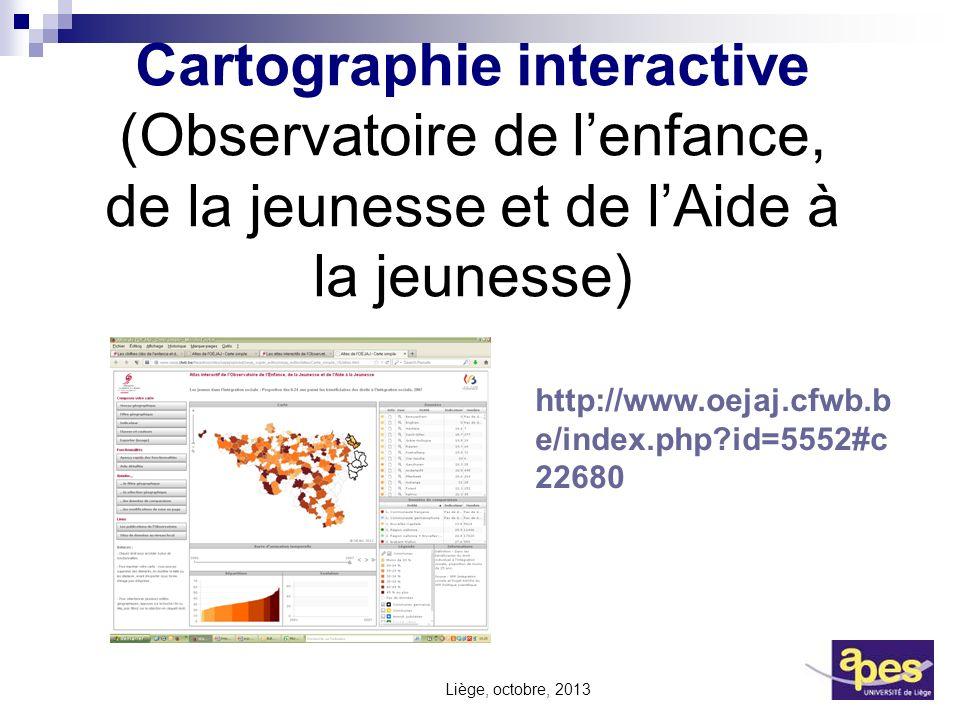 Cartographie interactive (Observatoire de l'enfance, de la jeunesse et de l'Aide à la jeunesse)