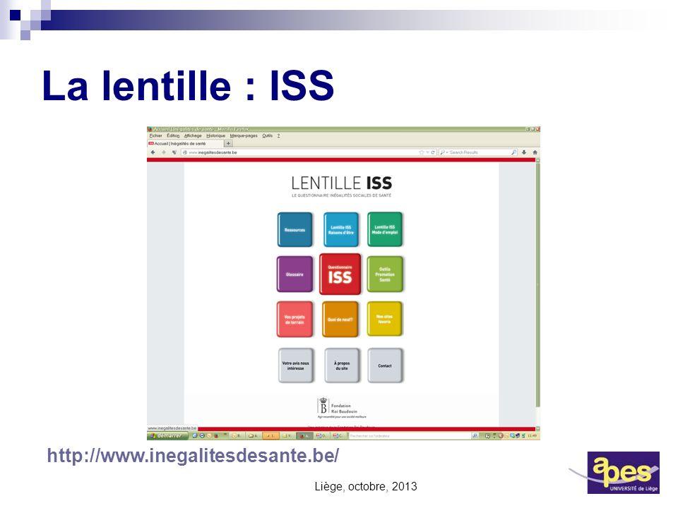 La lentille : ISS http://www.inegalitesdesante.be/