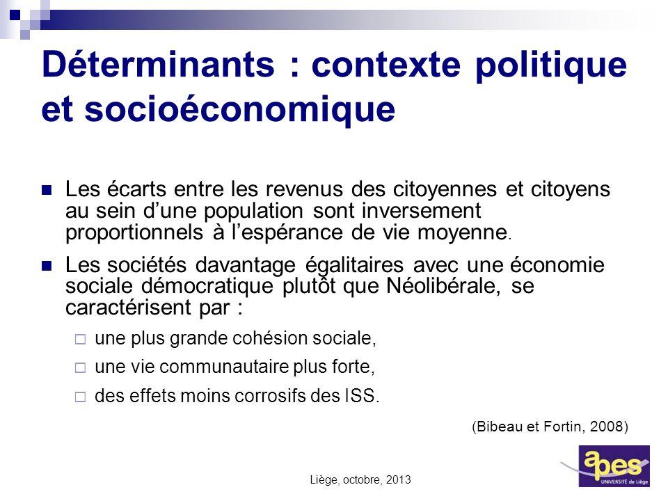 Déterminants : contexte politique et socioéconomique