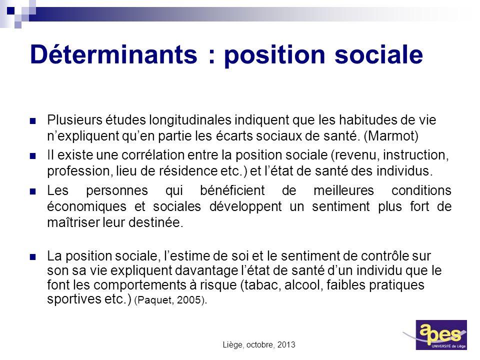 Déterminants : position sociale