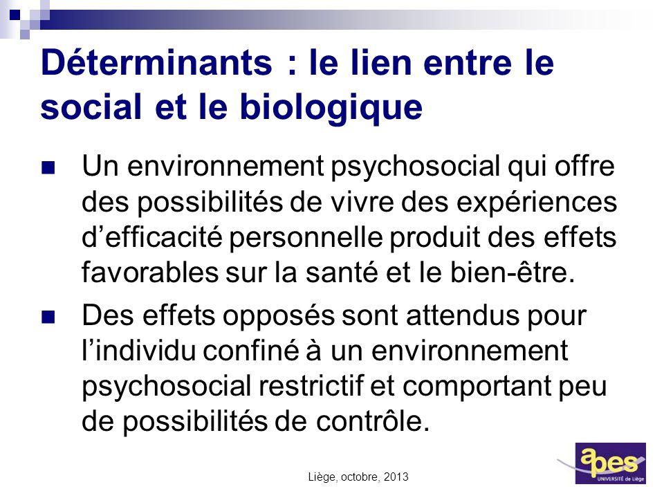 Déterminants : le lien entre le social et le biologique