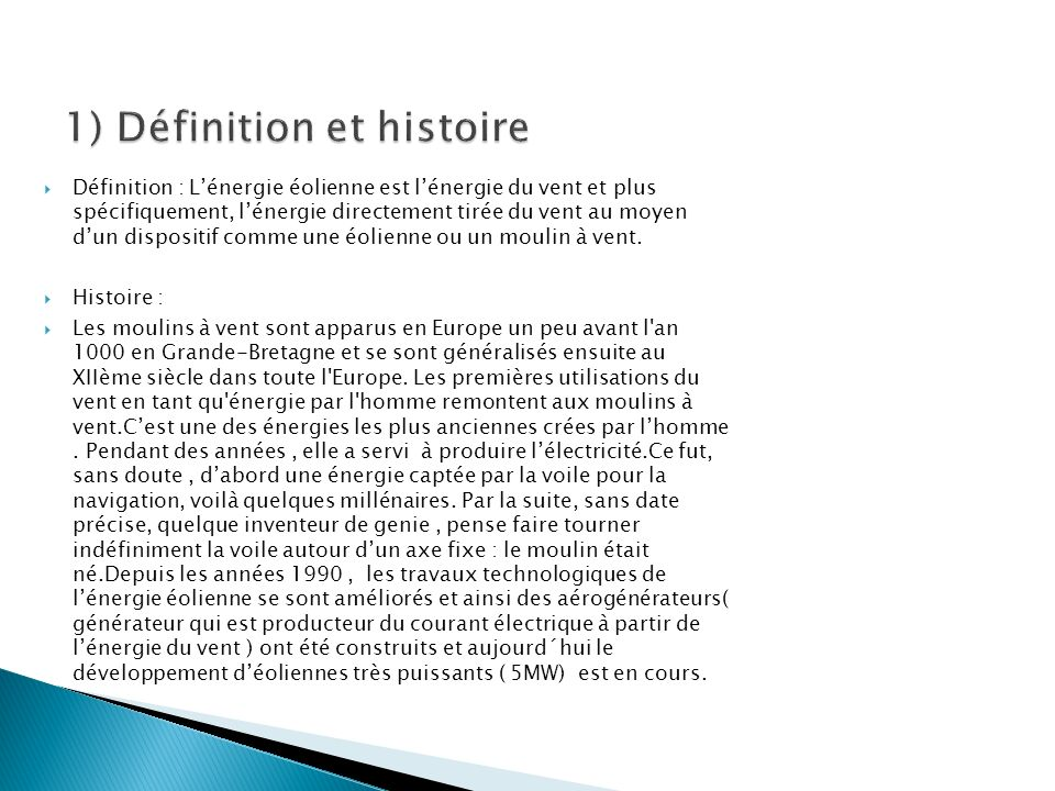 1) Définition et histoire