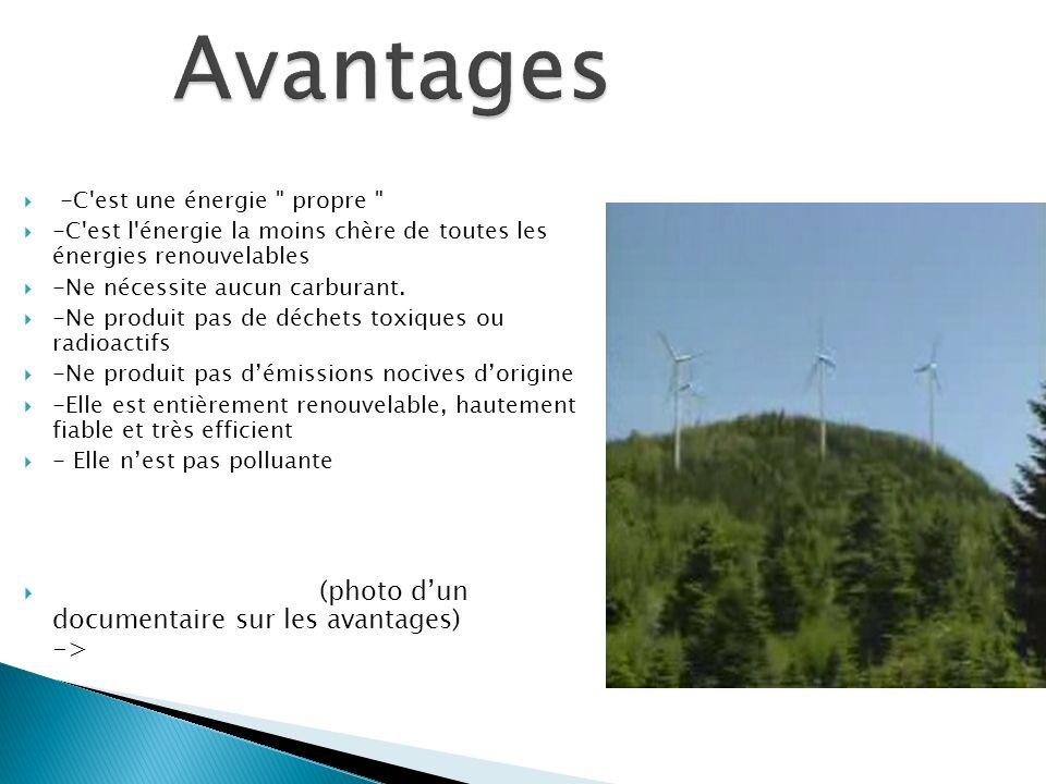 Avantages (photo d'un documentaire sur les avantages) ->