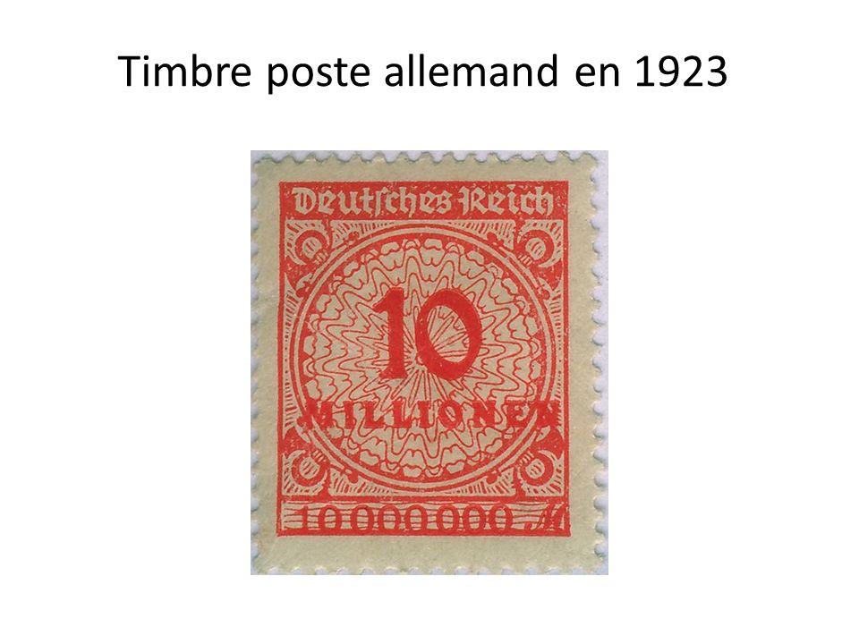 Timbre poste allemand en 1923