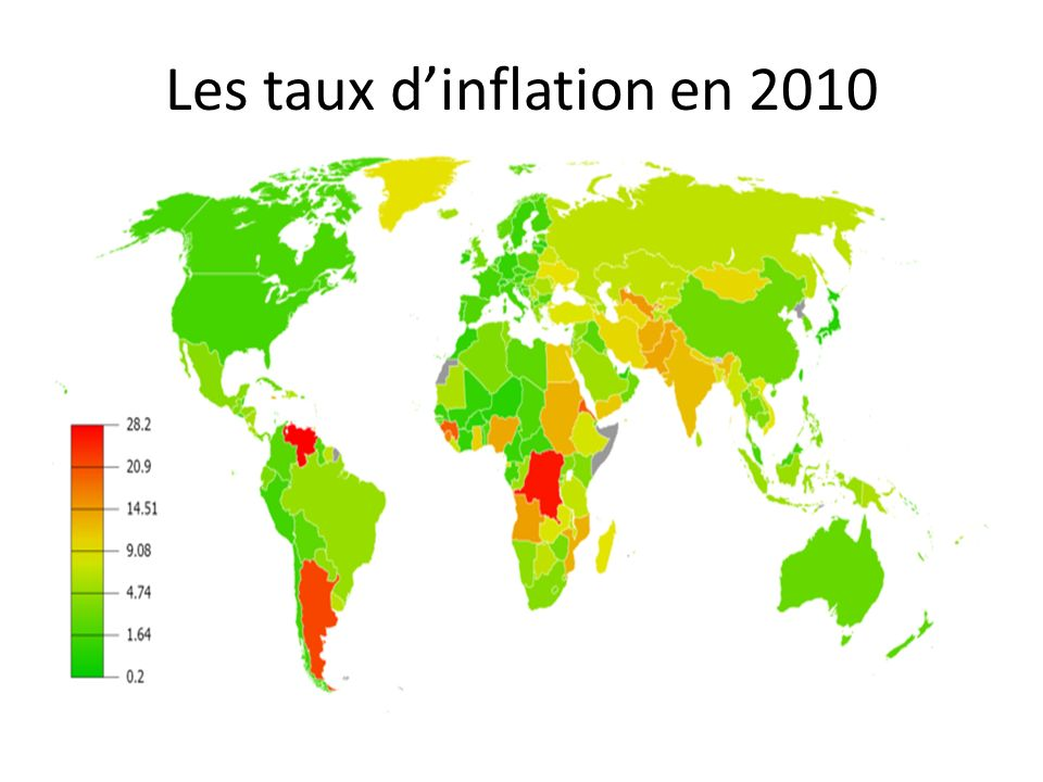 Les taux d'inflation en 2010