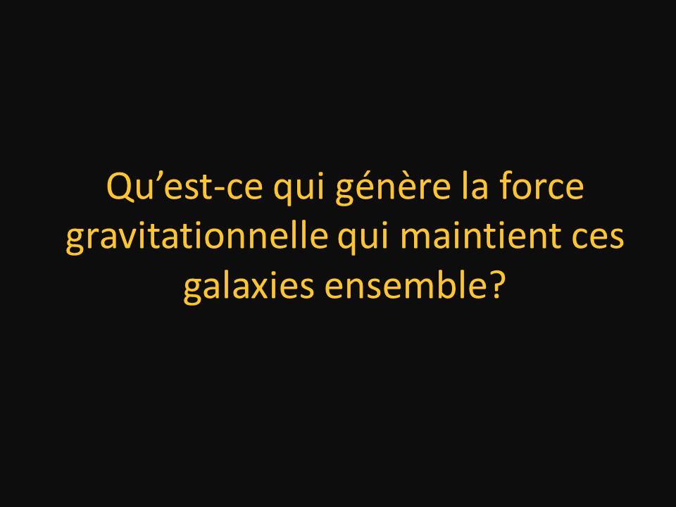 Qu'est-ce qui génère la force gravitationnelle qui maintient ces galaxies ensemble