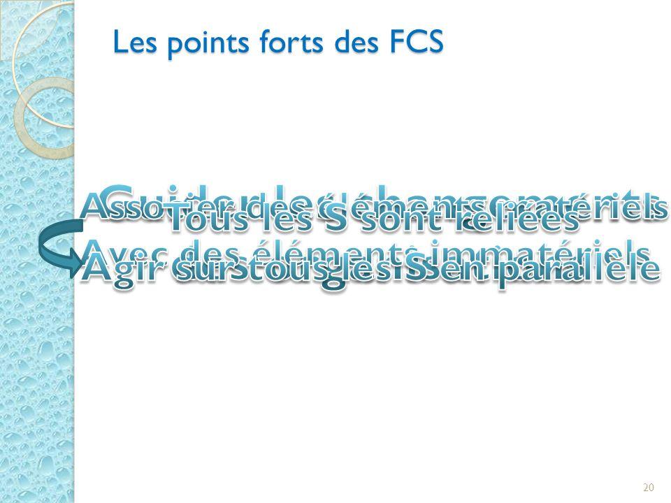 Les points forts des FCS