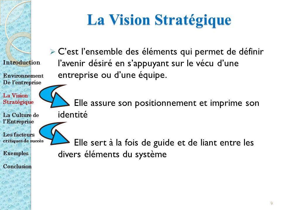 La Vision Stratégique