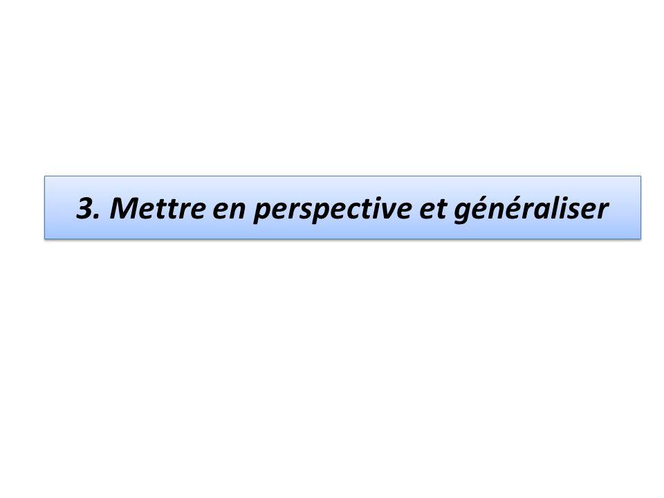 3. Mettre en perspective et généraliser
